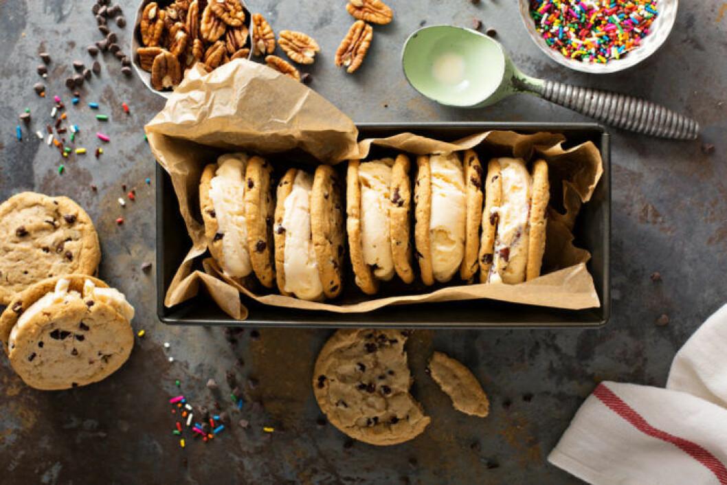 Otåliga vattumannen gillar desserter som inte behöver tillagas. Som ice Cream sandwich.