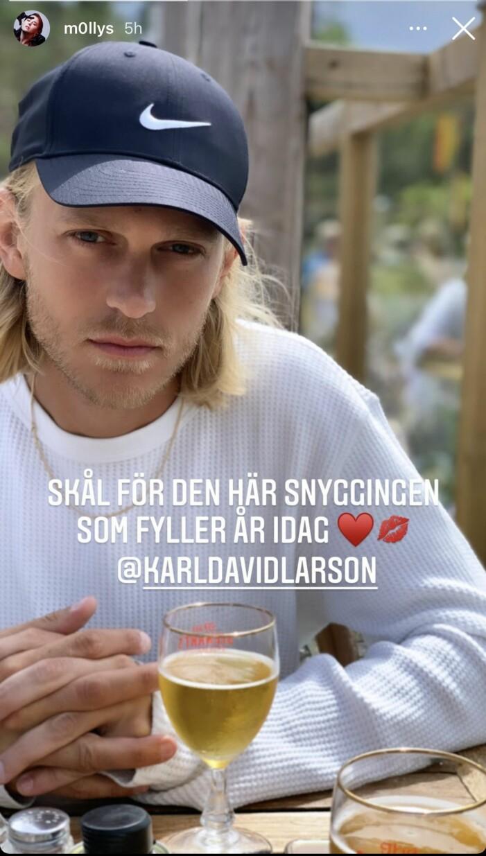 David Larson, Molly Sandéns pojkvän