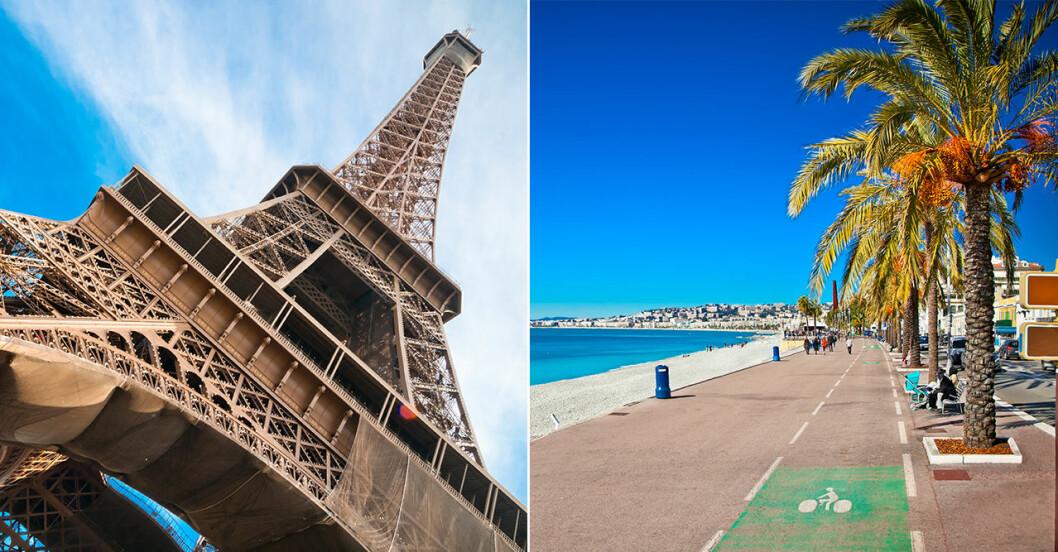 London och Paris är populära städer i Europa