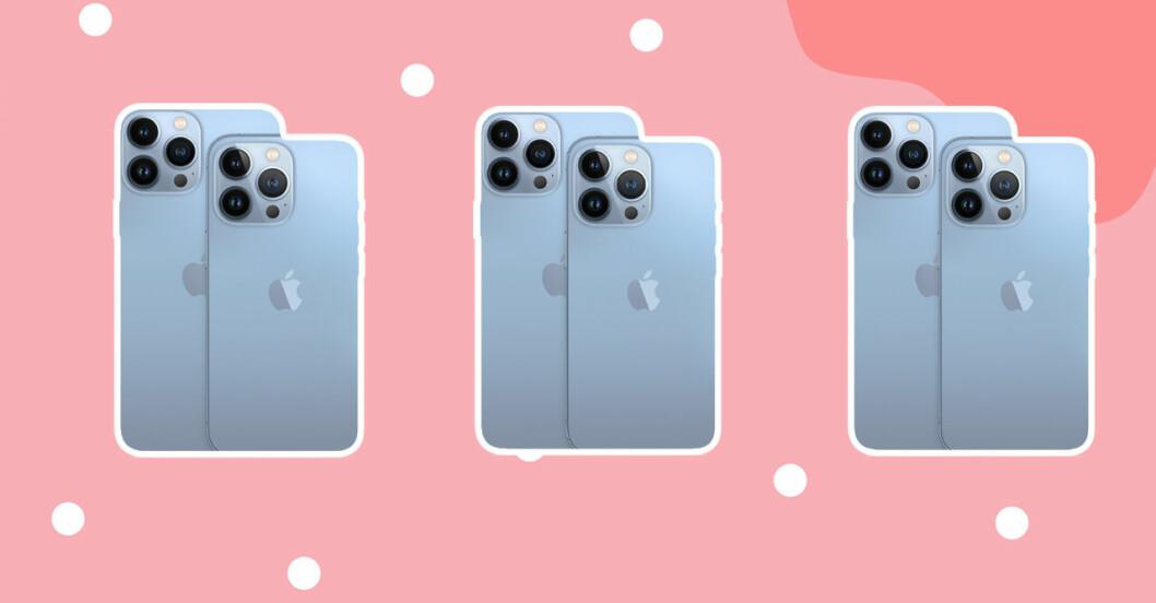 nya iphone 13 - färger - kamera