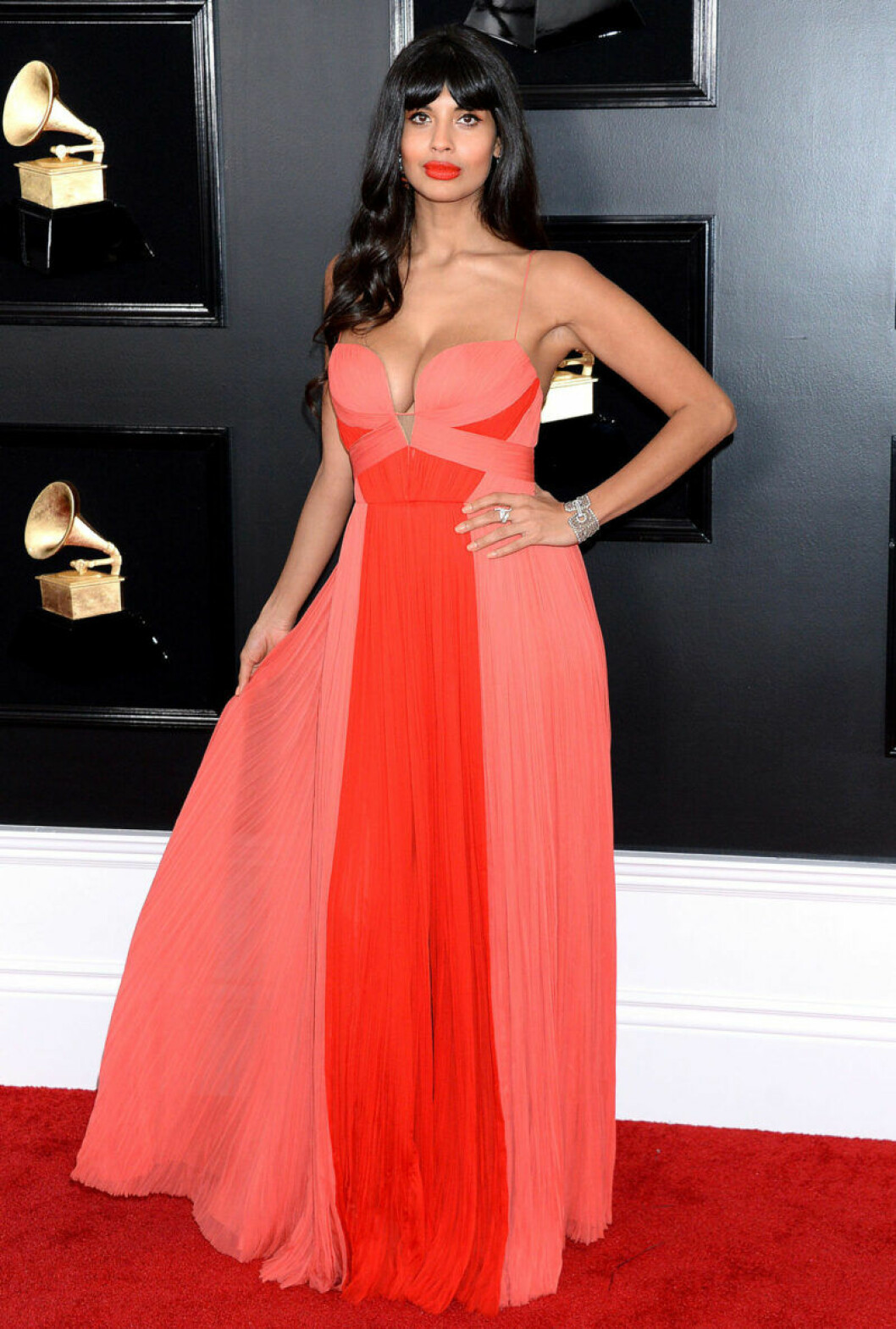 Jameela Jamil på Grammy Awards 2019