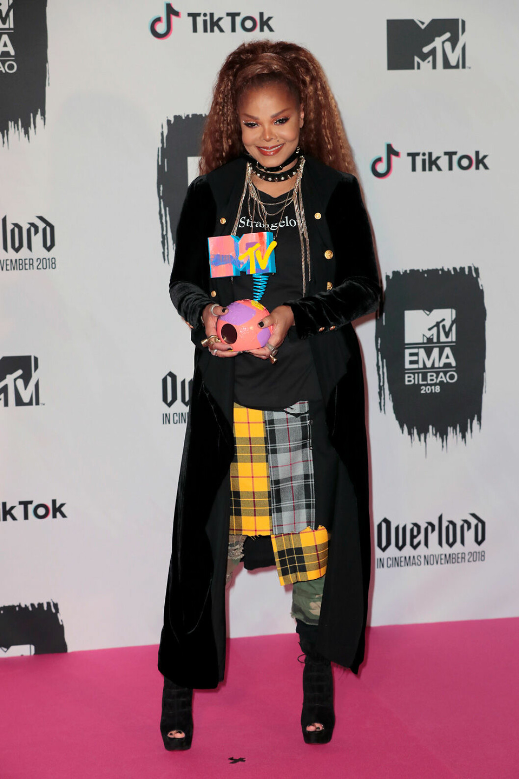 Janet Jackson på röda mattan under MTV EMA 2018.