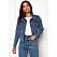 Blå jeansjacka i klassisk modell
