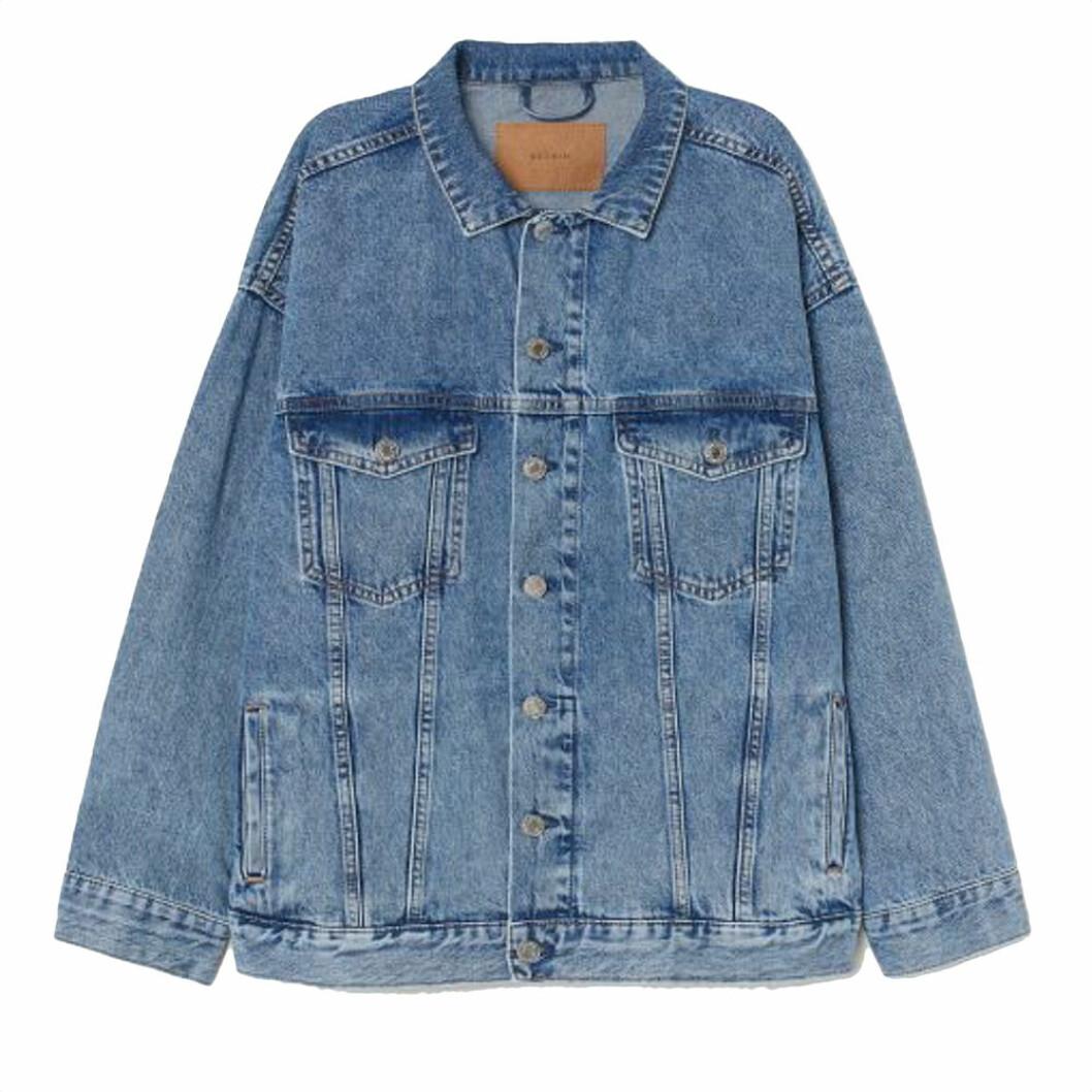 Oversize jeansjacka från h&M