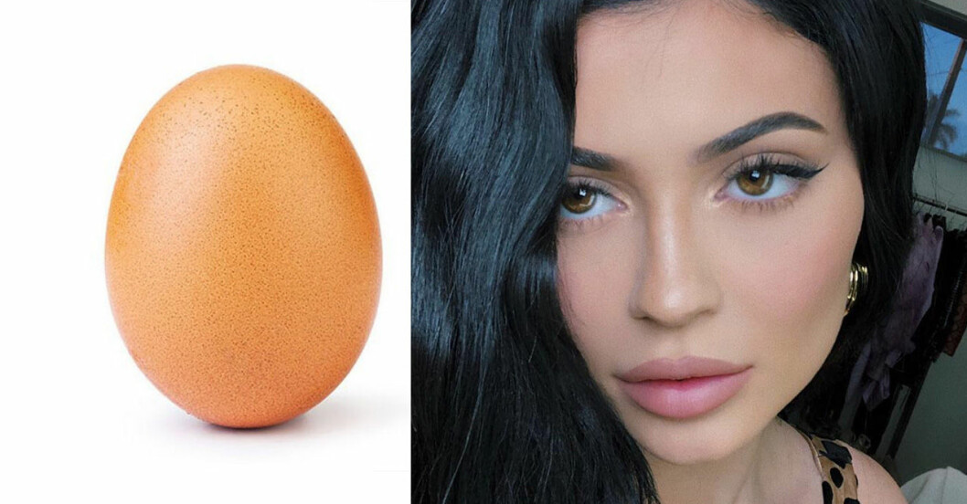 Kylie Jenner är mindre likead på instagram än det här ägget