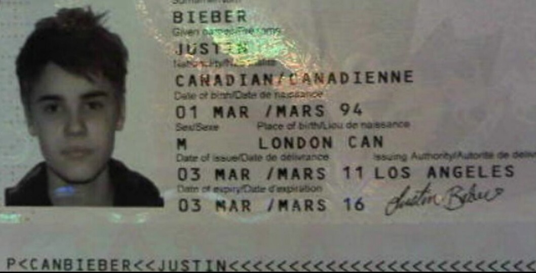 justin biebers pass