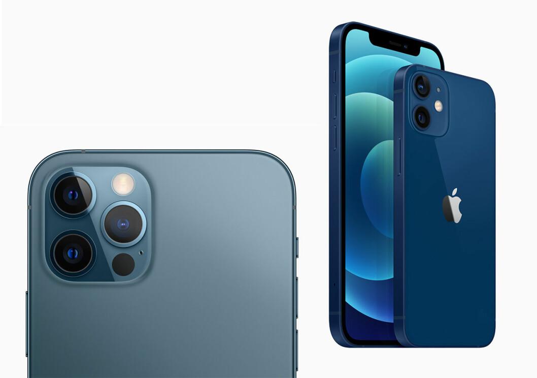 Baksidan och kameran på Iphone 12 Pro vs Iphone 12.