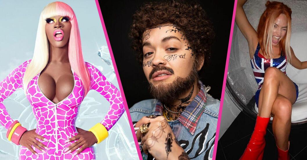 Lil Nas X som Nicki Minaj, Rita Ora som Post Malone och Margot Robbie som Ginger Spice