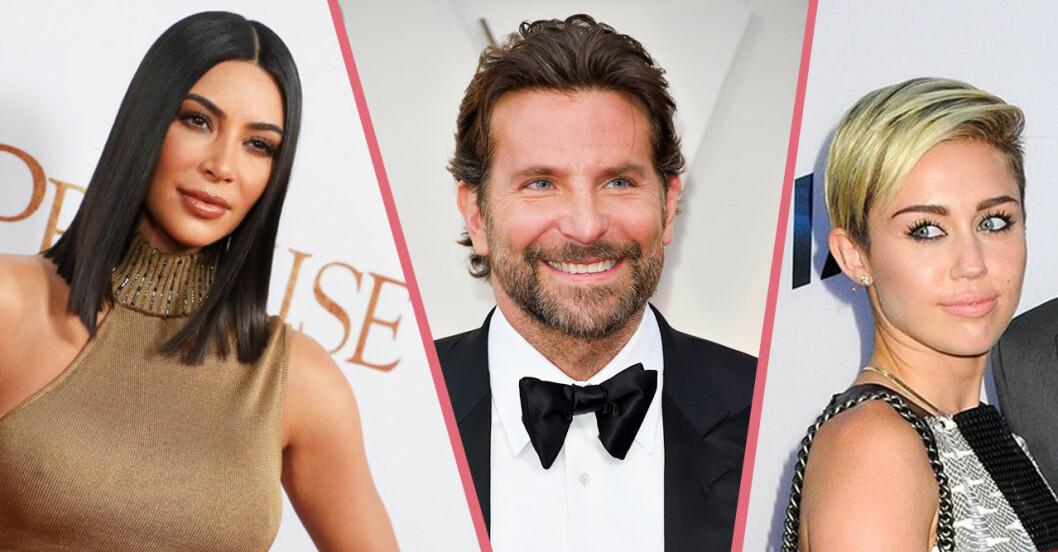 Kim Kardashian, Bradley Cooper, Miley Cyrus