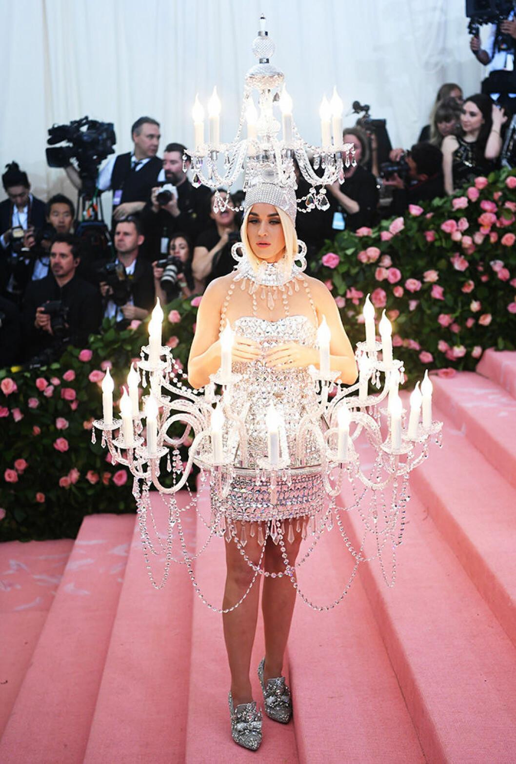 En bild på sångerskan Katy Perry på Met-galan 2019.