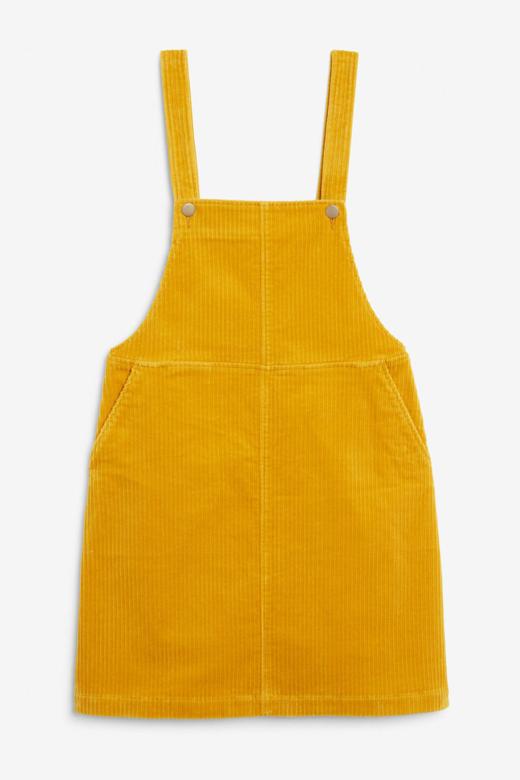 Gul klänning i manchestertyg