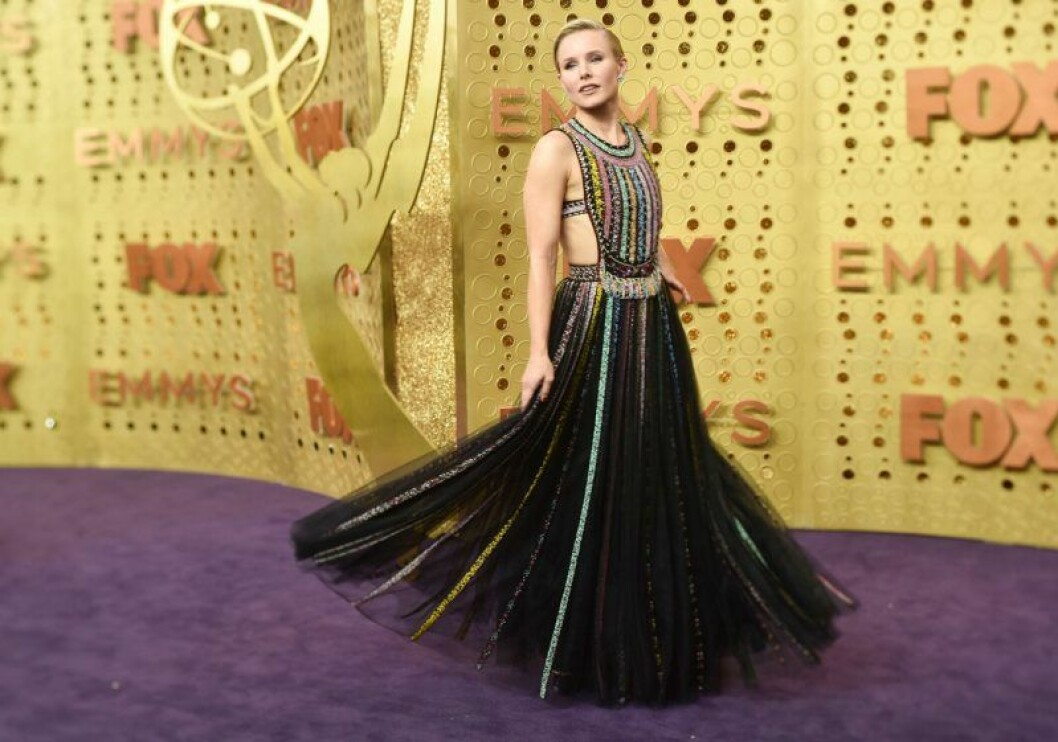 Kristen Bell på röda mattan på Emmy Awards 2019