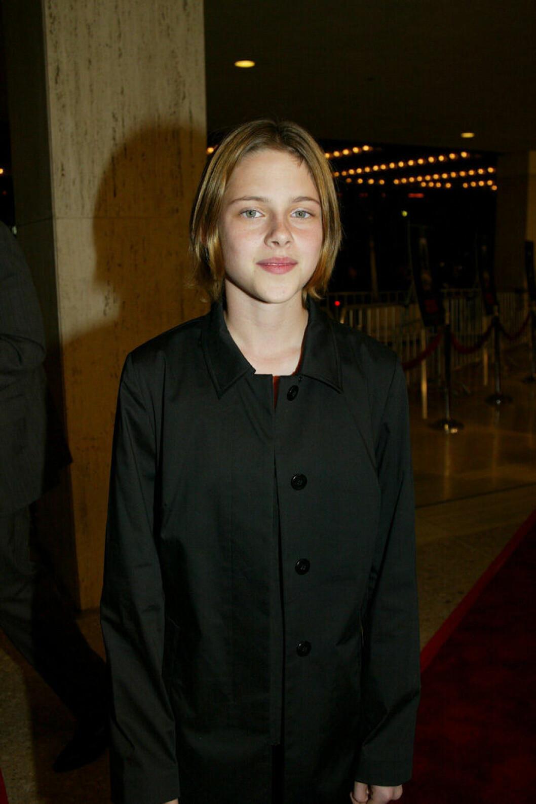 En bild på skådespelerskan Kristen Stewart 2002.