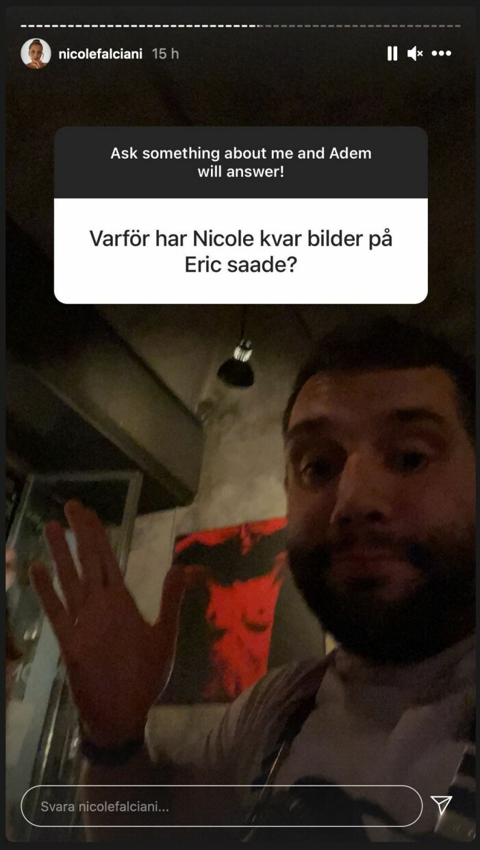 screenshot nicole falcianis instagram story