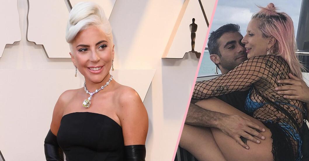 Lady Gaga och Michael Polansky pussas