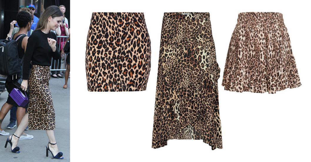 leopardmonstrad-kjol-host-2018