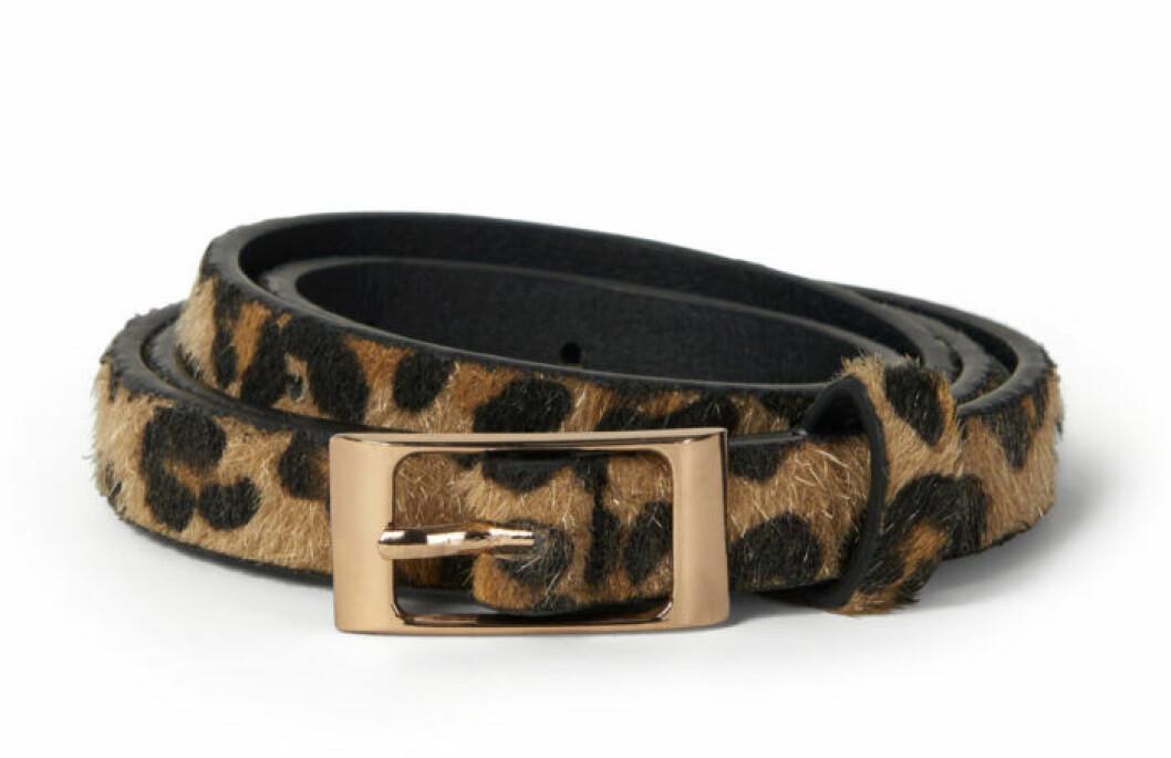 Leopardmönstrat smalt skärp för dam till 2019
