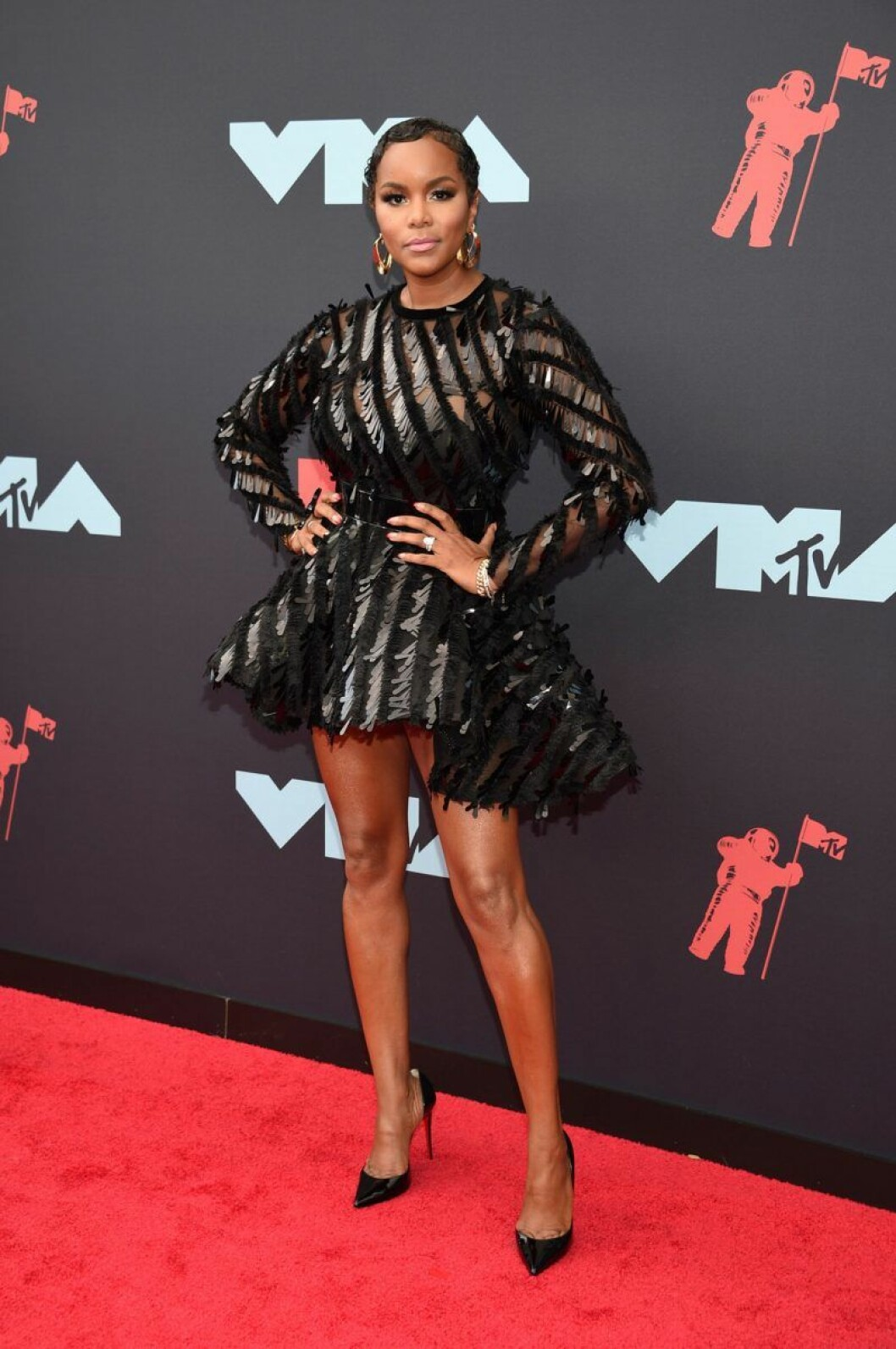 LeToya Luckett på röda mattan på VMA 2019