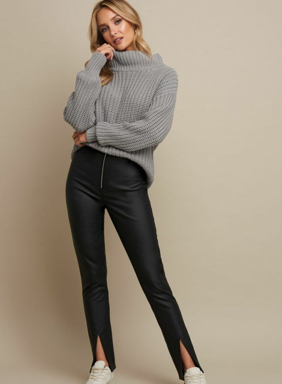 svarta läderbyxor från na-kd