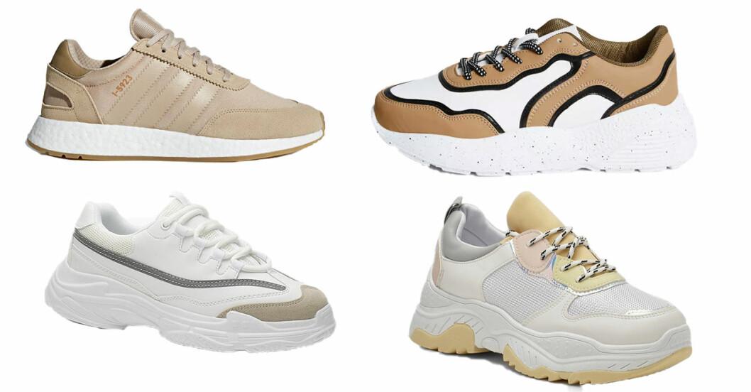 Ljusa chunky sneakers inför sommaren