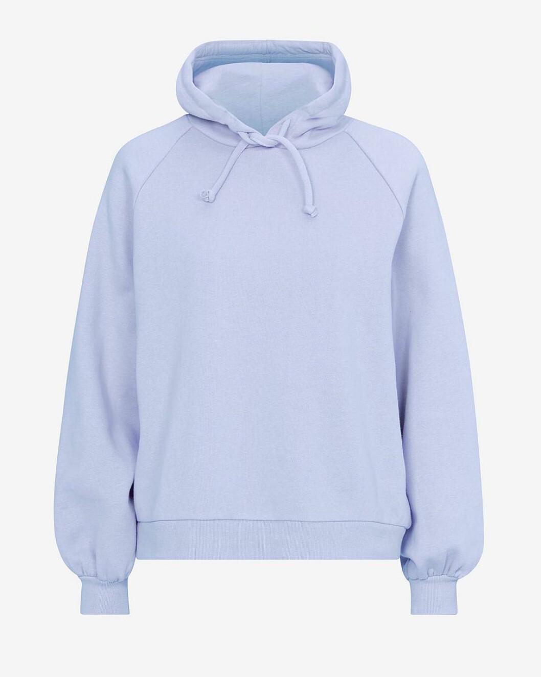 Ljusblå hoodie för dam till våren 2019