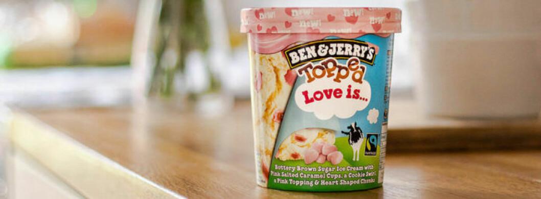 Ben & Jenny's nya kärleksglass Love is...