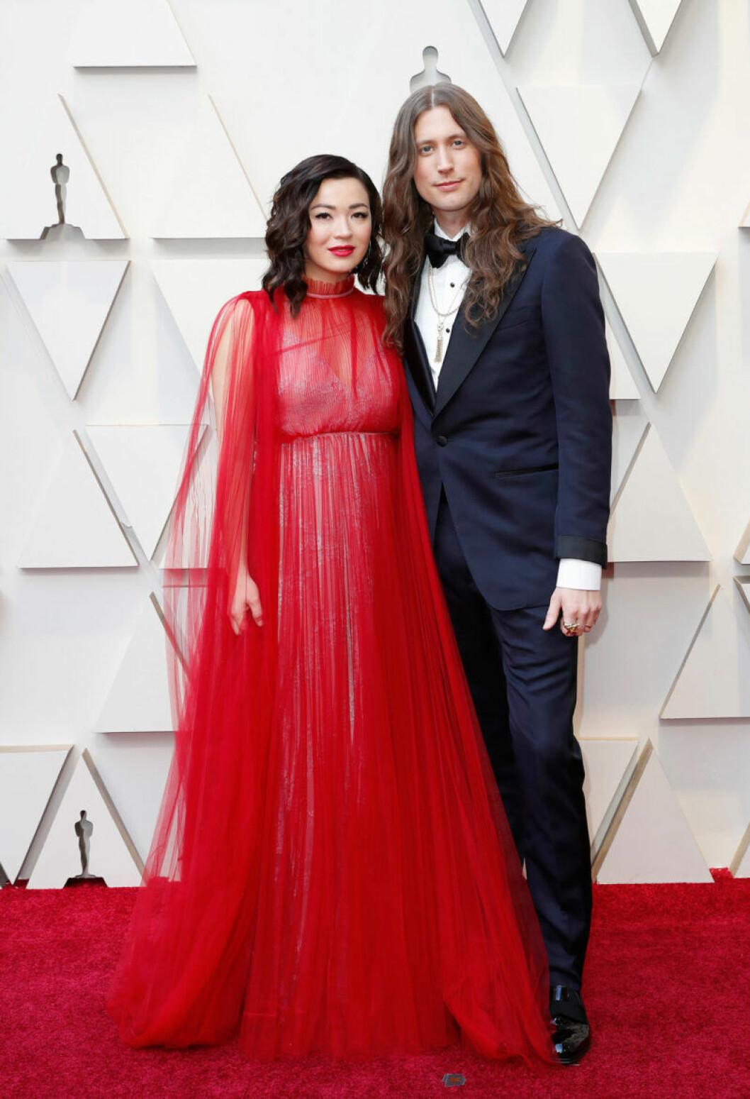 Ludwig Göransson och Serena McKinney på Oscarsgalan 2019