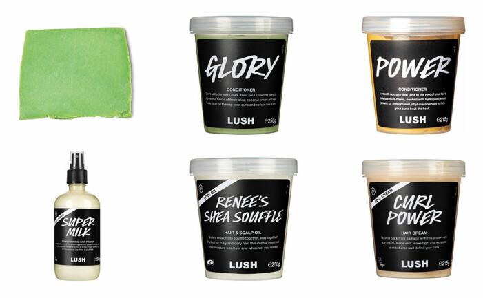lush produkter för afrohår