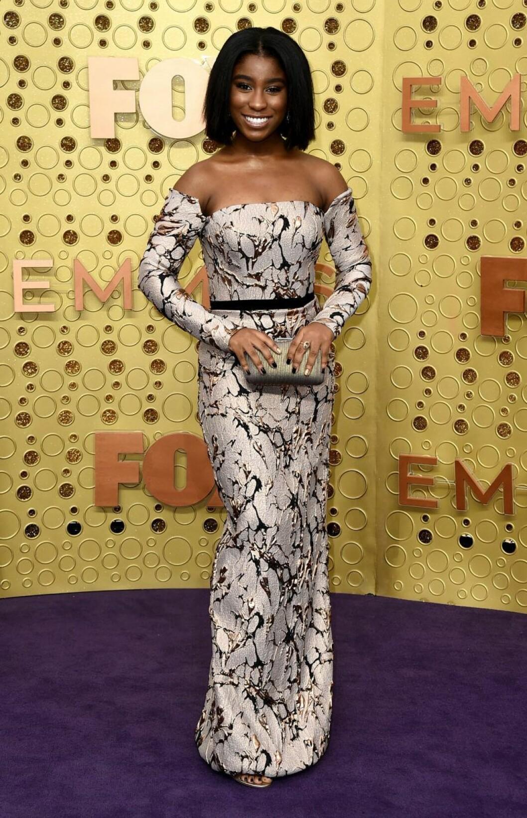 Lyric Ross på röda mattan på Emmy Awards 2019