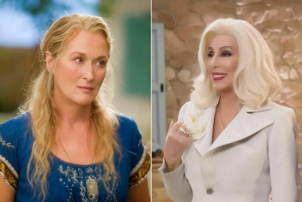 Cher och Meryl i Mamma Mia