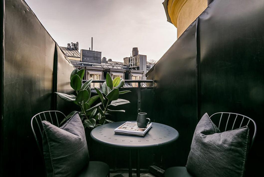 Margaux Dietz lägenhet i Stockholm - terrassen
