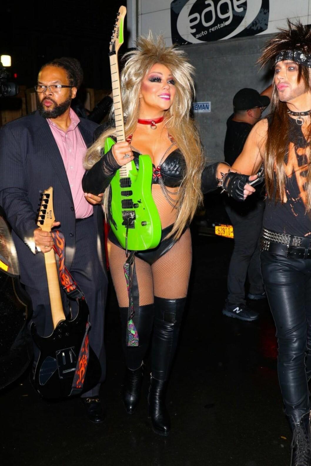Mariah Carey på Heidi Klums halloweenfest 2019