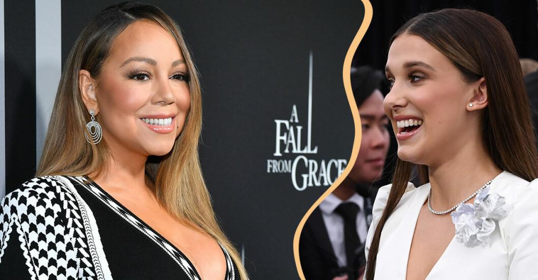 De är båda fans av varandra, Mariah Carey och Millie Bobby Brown.