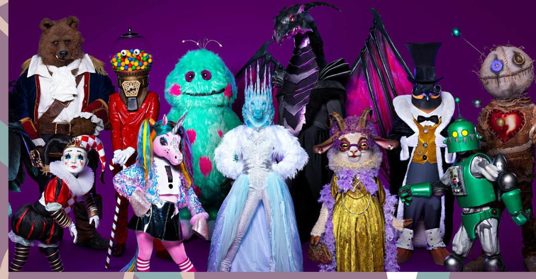 Alla karaktärer i Masked Singer 2021