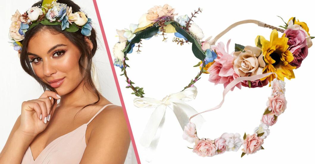 Blomsterkrans att köpa till midsommar 2019