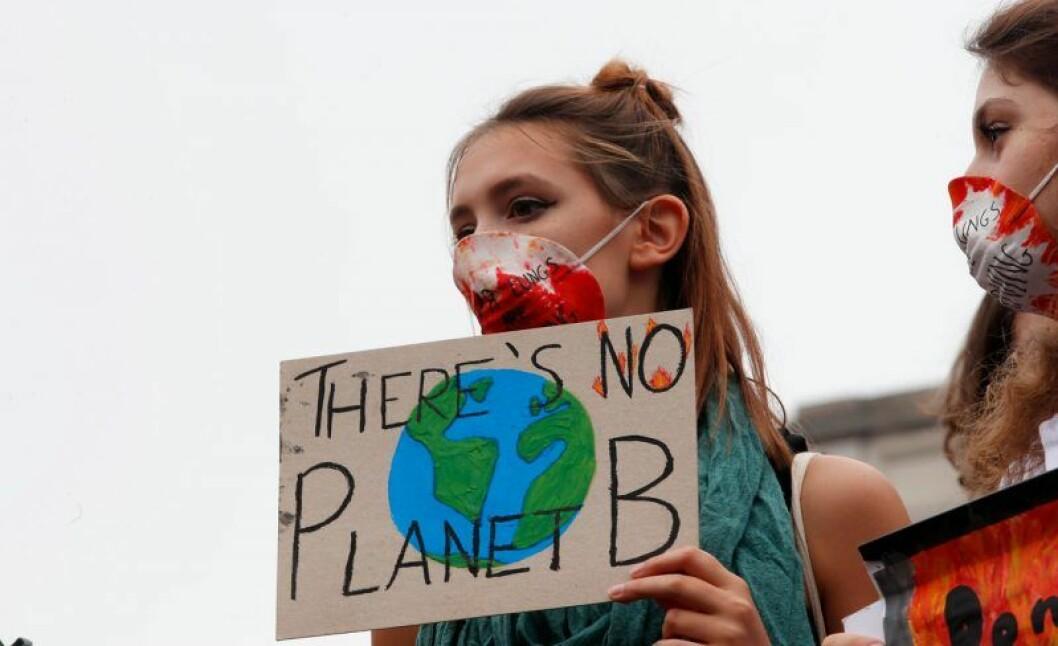 Greta Thunbergs strejk för klimatet ägde bland annat rum i Milano, Italien