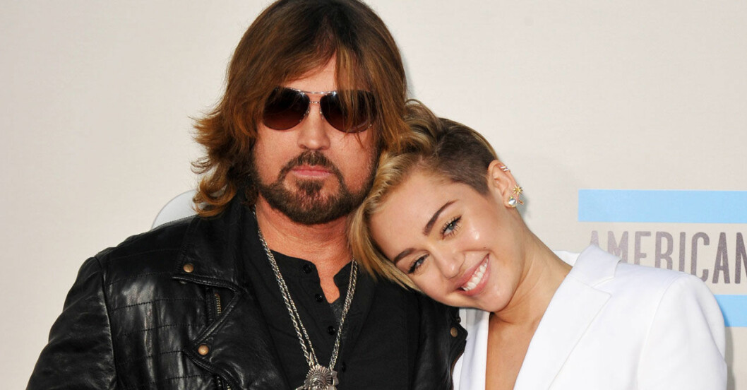 Miley och Billy Ray Cyrus