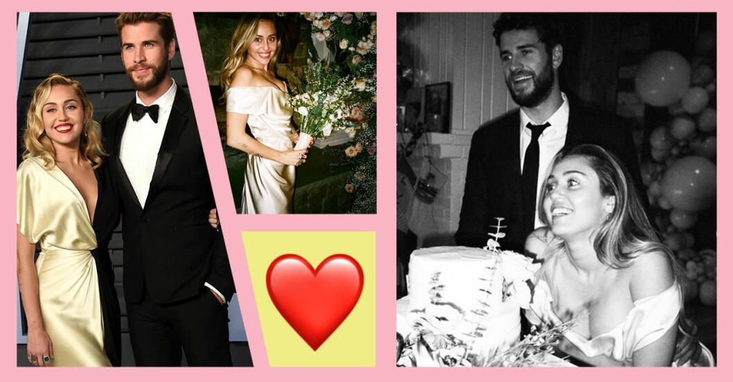 Miley Cyrus och Liam Hemsworth bröllopsbilder