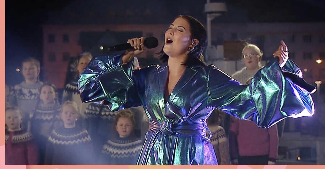 Molly Sandén gjorde ett bejublat framträdande på under Oscarskvällen.
