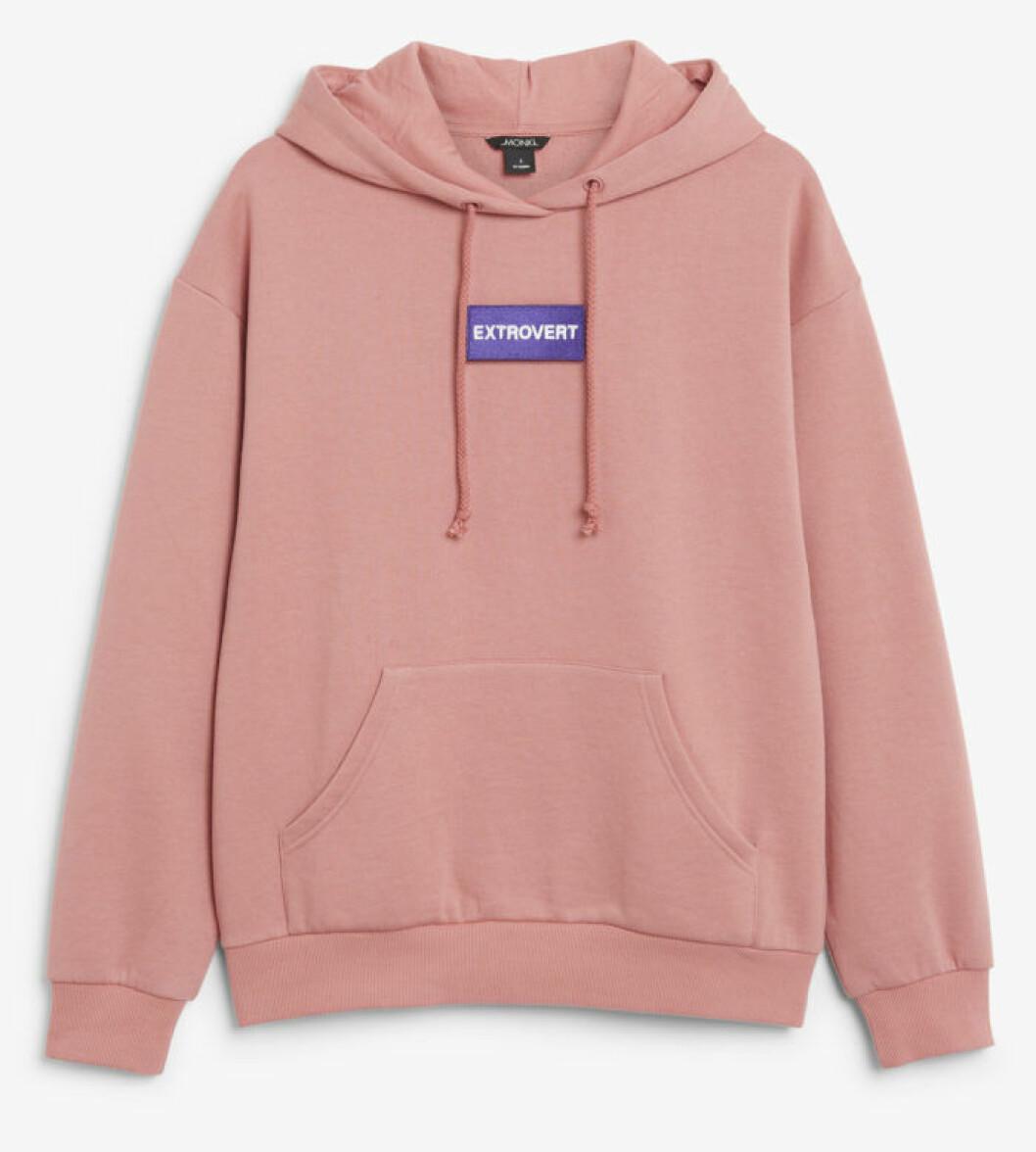 Rosa hoodie från Monki
