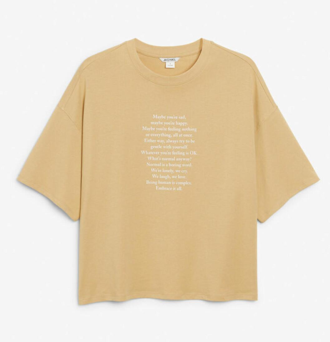Monki släpper t-shirts med tryck