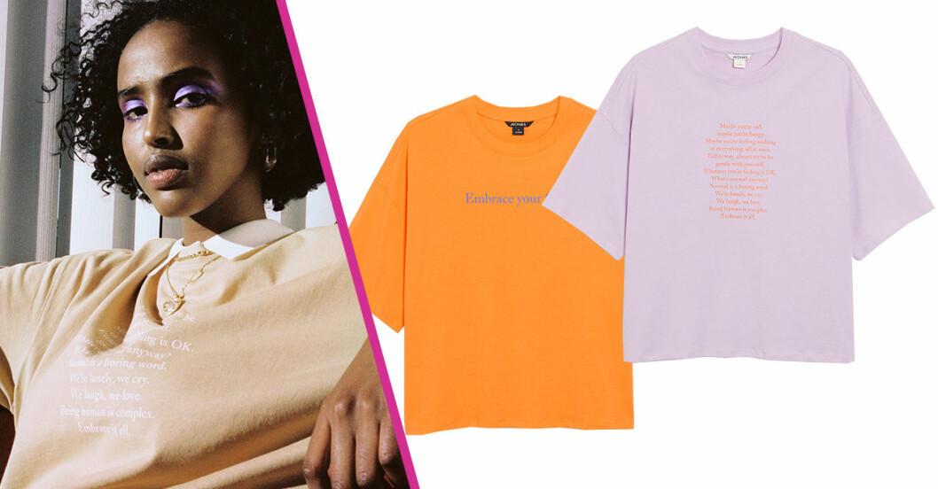 Monki släpper t-shirts för att få oss att prata om känslor