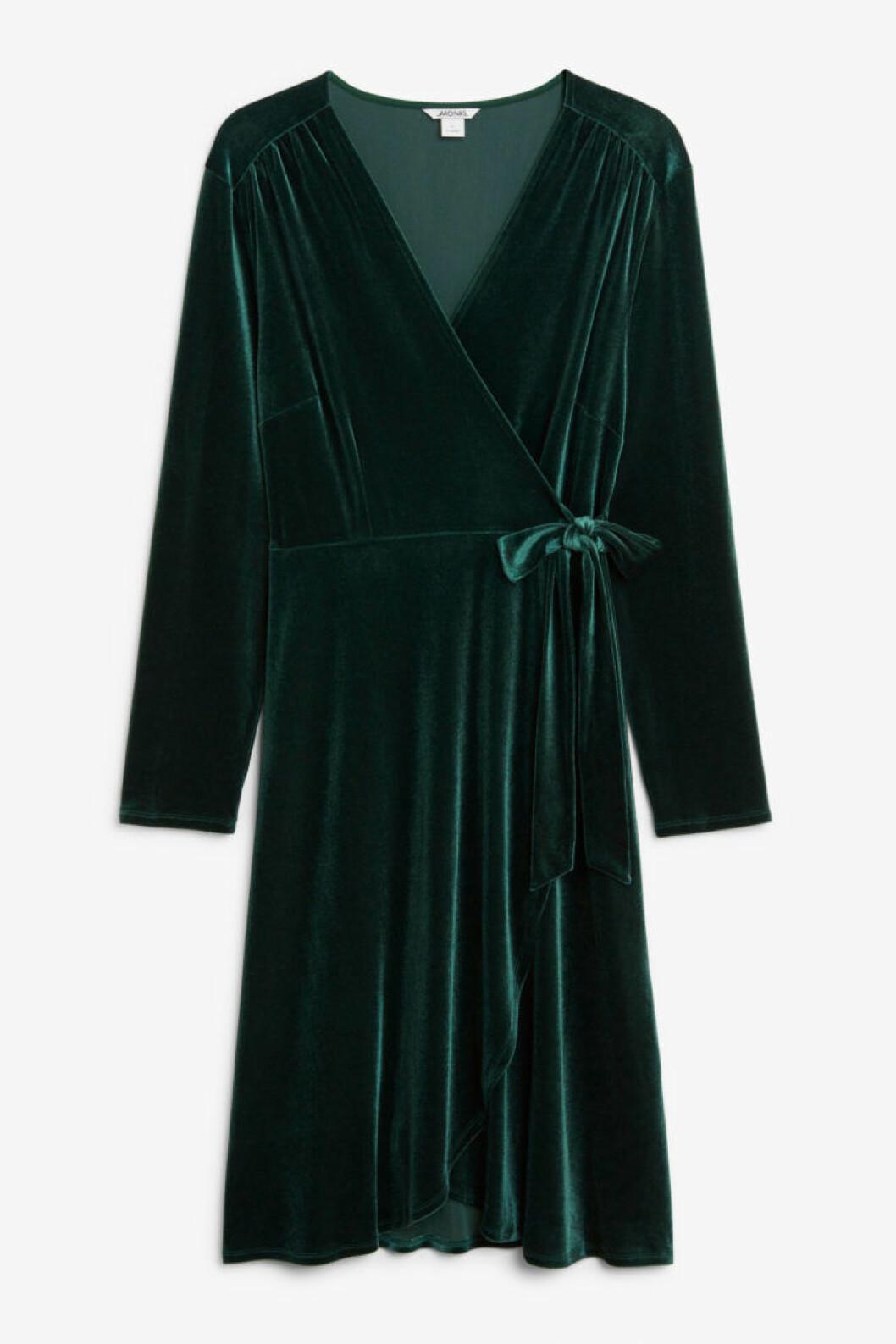 Grön sammetsklänning för dam