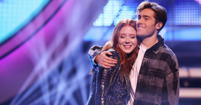 Nathalie och Benjamin i Idol 2018.