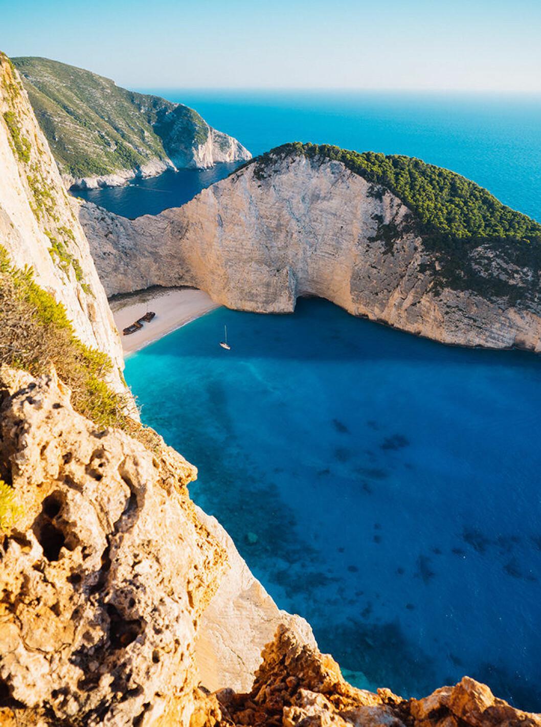 Navagio Beach i Grekland lockar många turister