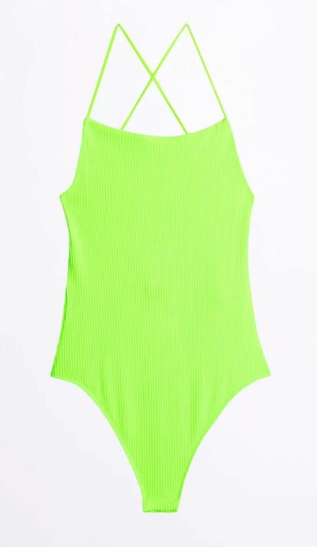 Neongrön body för dam till 2019