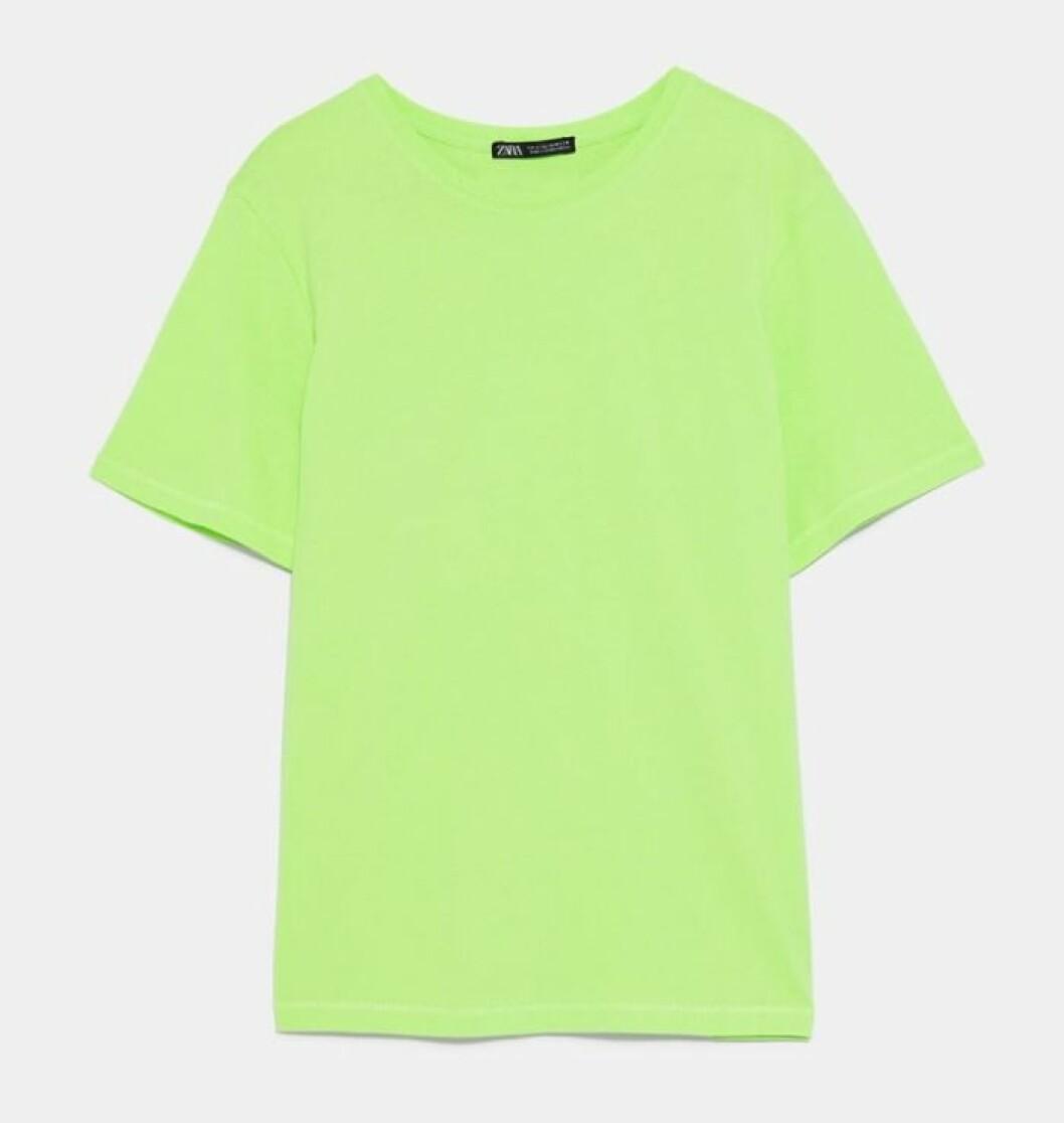 Neongrön t-shirt för dam till 2019