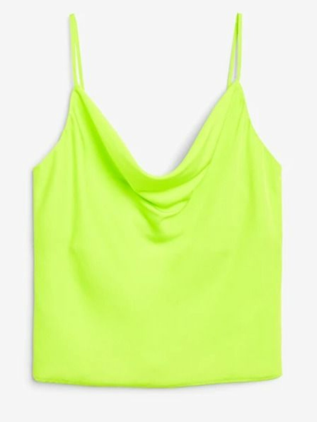 Neongrönt linne med tunna band för dam till 2019