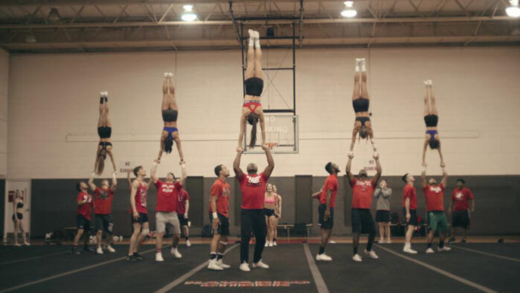En bild från dokumentären Cheer, som har premiär på Netflix den 8 januari 2020.