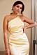 Nicole Falciani släpper bröllopskollektion – gul långklänning